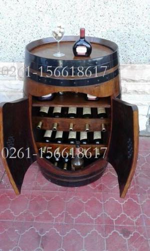 botelleros - bares - bodeguitas en barricas de roble frances