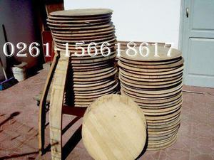 fondos y tapas de barricas de roble