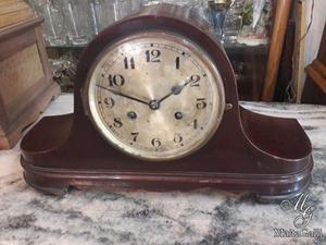 Antiguo Reloj De Mesa Alemán Sombrero de Napoleón