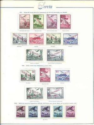 Coleccion De Estampillas Aereas Mint De Servia Y Croacia