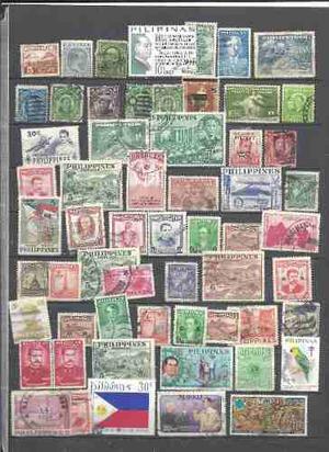 Coleccion De Estampillas Antiguas De Filipinas Alto Valor