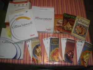 Coleccion de revistas de cocina + 3 libros + 4 ficheros