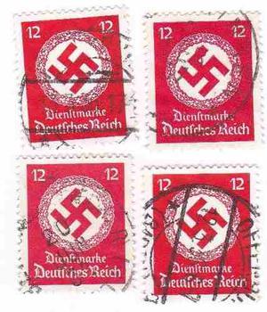 Estampillas -alemania Reich -estampillas- Esvastica -tesoros