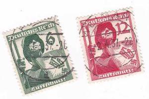 Estampillas-alemania Serie Soldados- Esvastica -$ 1 -tesoros