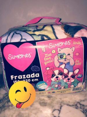Frazada Simones 1 1/2 plaza