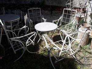 Juego De Jardin De Hierro 4 Sillones Y Mesa. Cod.: #