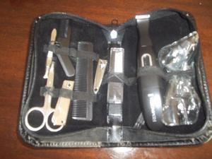 Kit de peluquería y manicuría de viaje para hombres