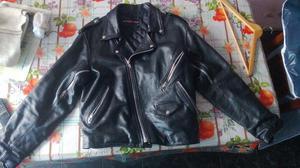 campera de cuero motoquera marca motorman importada