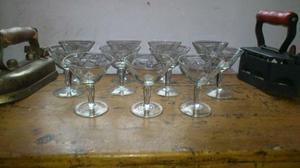 copas de cristal talladas antiguas