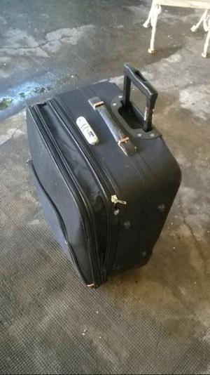 valija de viaje carrito usada con detalles