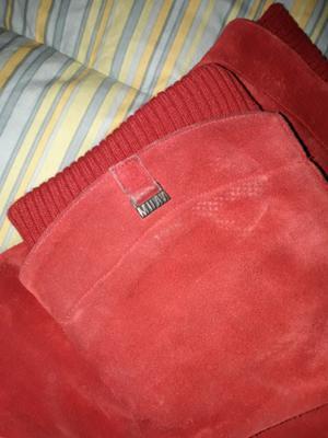 Botas rojas de cuero MUAA 38