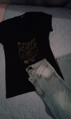 COMBO jean y remera $260
