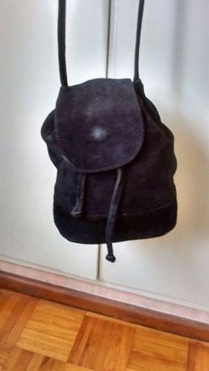 Carterita/Bolsito de vestir de Gamuza Negra