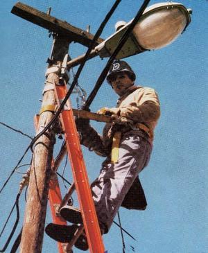 Cinturón de seguridad para postes