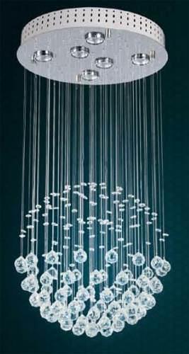 Colgante Esfera Simple 6l,cairel Cristal, Incluye Led