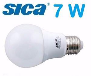 Lampara Led 7w E27 Sica Luz Fría Y Luz Cálida