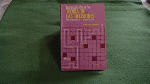 Libro Introducción a la Teoría de las Decisiones de Jean