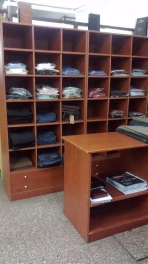 Mueble 6 módulos ideal negocio venta de ropa