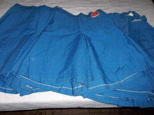 Polleras- Pantalones Colegiales Azul Francia Talle 4 al