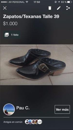 Zapatos / Texanas Talle 39