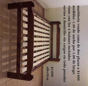 muebleria vende cama de 2 plazas a $ efectivo