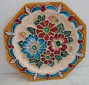 plato decorativo en cerámica