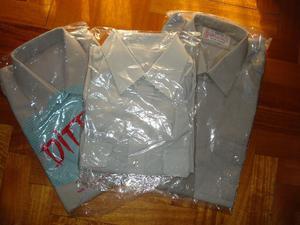 3 camisas grises talles .y  nuevas