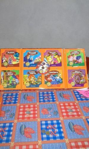 8 cuentos de carton infantiles con CD muy buen estado. Como