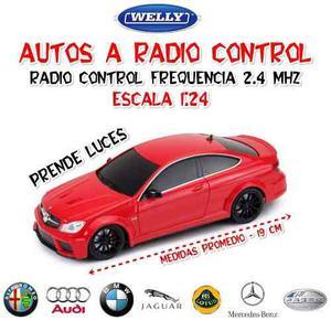 Auto R/c Welly Radio Control Bmw Audi Alfa Mercedes 1:24
