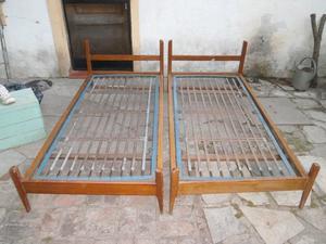 Cama De 1 Plaza Madera $400 Buen Estado