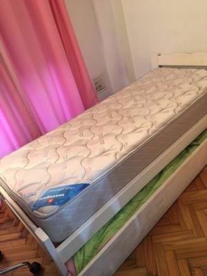 Cama + colchón + carro