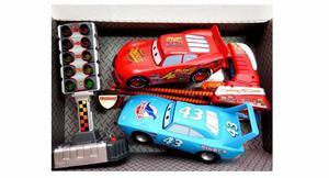 Cars Lanzador De Carrera Con 2 Autos Y Semaforo