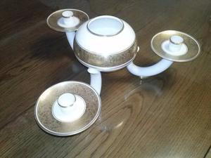 Centro de mesa de porcelana de Bavaria
