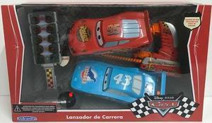Disney Cars Autos X 2 C/lanzador Y Semaforo Lalo