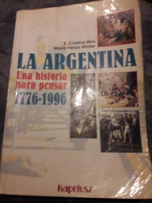 Libro de Historia Argentina Kapeluz