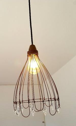 Lámpara de Hierro oxidado