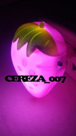 Luz De Noche Rosa Velador Frutilla Para Chicos