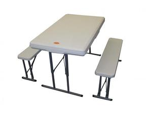 Mesa plegable con bancos 113 x 68 x 73 cm