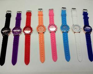 Reloj Pulsera Silicona Por Mayor 10 Unidades Varios Colores