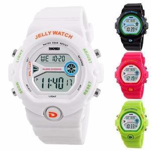 8b1c539202bd Reloj skmei jelly crono alarma luz sumergible - vs colores