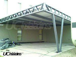 Columnas para techos galeria pergolas posot class for Techos de chapa modernos