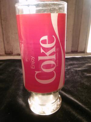 Vaso con base de coca /coke antiguo