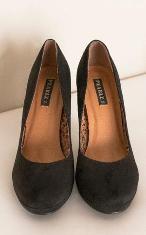 Zapatos Negros Taco Alto, N° 39