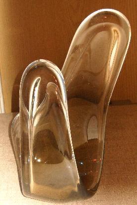 centro de mesa de vidrio - escultura antigua