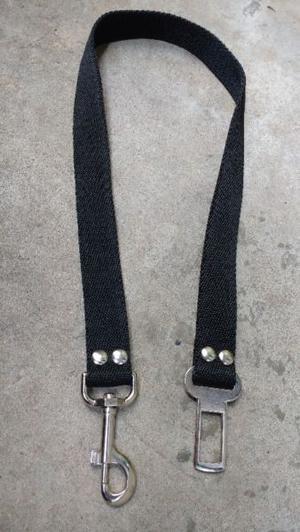 cinturon de seguridad para mascotas para el auto + chapita