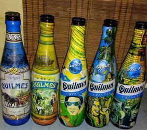 Lote de botellas Quilmes de edicion limitada
