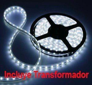 Tira Led Siliconada 5 Metros C/ Transformador Varios Colores