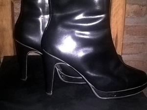 botas de cuero negro n37