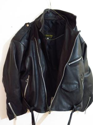campera de cuero original motoquero rockera con cierre