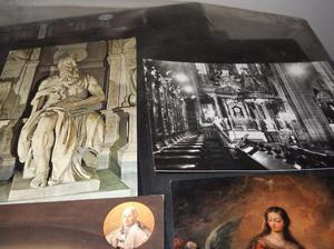 lote 5 postales religiosas religiosas antiguas